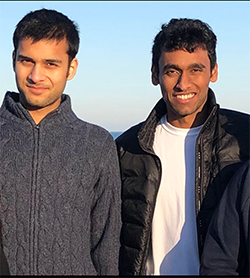 Karan Bhasin, left, and Utkarsh Mishra, co-creators of the Home Care Now app.