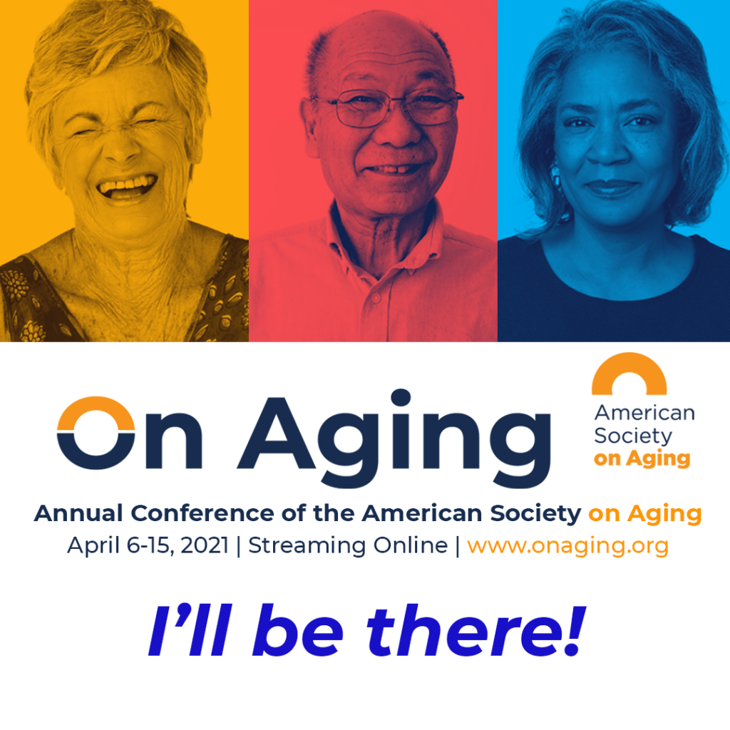 On Aging 2021 badge for attendees